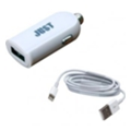 Just Me2 USB Car Charger (2.4A/12W, 1USB) White + Lightning cable (CCHRGR-M2LGHT-WHT)