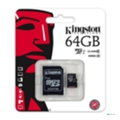 Kingston 64 GB microSDXC Class 10 UHS-I + SD Adapter SDC10G2/64GB