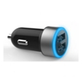 Toto TZR-05 Led Car charger 2USB 3,1A Black/Blue