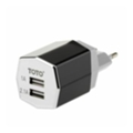 Toto TZR-09 Travel charger 2USB 3,1A Black/Silver