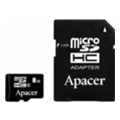 Apacer 8 GB microSD Class 4 + SD adapter AP8GMCSH5-R