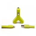 TYLT Y-CHARGE Car Charger for IPhone 5S GREEN (IP5-YCHGG-T)