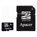 Apacer 4 GB microSDHC Class 4 + SD adapter AP4GMCSH4-R