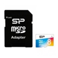 Silicon Power 8 GB microSDHC UHS-I Elite COLOR + SD adapter SP008GBSTHBU1V20-SP