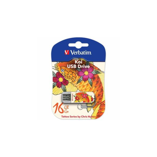 Verbatim 16 GB STORE'N'GO MINI TATTOO KOI USB 2.0 (49886)