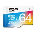 Silicon Power 64 GB microSDXC Class 10 UHS-I Elite Color + SD adapter SP064GBSTXBU1V20-SP