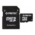 Pretec 16 GB microSDHC Class 10 UHS-I + SD Adapter STSH16G-SA