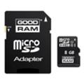 GoodRAM 8 GB microSDHC class 10 UHS1 + SD Adapter SDU8GHCUHS1AGRR10