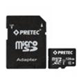 Pretec 128 GB microSDXC Class 10 UHS-I + SD Adapter STSX128G-SA