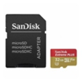 SanDisk 32 GB microSDHC UHS-I U3 Extreme PLUS + SD adapter SDSQXWG-032G-GN6MA