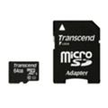 Transcend 64 GB microSDXC UHS-I Premium + SD Adapter TS64GUSDU1
