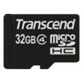 Transcend 32 GB microSDHC class 4 + SD Adapter TS32GUSDHC4