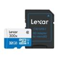 Lexar 32 GB microSDHC 300x UHS-I + SD-adapter LSDMI32GBB1EU300A