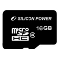 Silicon Power 16 GB microSDHC Class 4 SP016GBSTH004V10