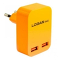 Logan Dual USB Wall Charger 5V 2A CH-2 Orange