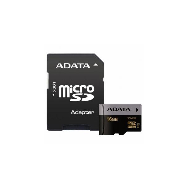 A-data 16 GB microSDHC UHS-I U3 Premier Pro + SD adapter AUSDH16GUI3CL10-RA1