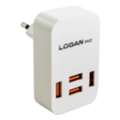 Logan Dual USB Wall Charger 5V 2A CH-2 White