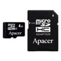 Apacer 8 GB microSD Class 4 + SD adapter AP8GMCSH4-R