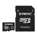 Pretec 64 GB microSDXC UHS-I Class 10 + SD Adapter STSX64G-SA