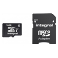 Integral 16 GB microSDHC Class 10 Ultima Pro + SD adapter INMSDH16G10-40U1