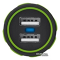 Urban Revolt Dual Smart Car Charger 2 USB 1 А Lime (6224630)