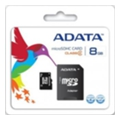 A-data 8 GB microSDHC class 4 + SD adapter