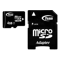 TEAM 4 GB microSDHC Class 4 + SD Adapter TUSDH4GCL403