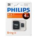 Philips 4 GB microSDHC class 4 + SD Adapter FM04MA35B/97