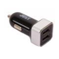Just Evo Trio USB Car Charger (6.3A/31W, 3USB) Black/Silver (CCHRGR-V-BLCK)