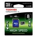Toshiba 8 GB microSDHC Class 10 UHS-I + SD adapter SD-C008UHS1(6A)