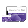 TEAM 64 GB microSDXC Class 10 UHS-I + SD Adapter TCUSDX64GUHS41