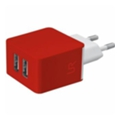 Trust REVOLT DUAL SMART WALL CHARGER (RED) (20149)