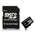 Silicon Power 8 GB microSDHC Class 4 + SD adapter