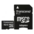 Transcend 4 GB microSDHC class 10 + SD Adapter TS4GUSDHC10