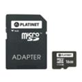 Platinet 16 GB microSDHC Class 10 + SD adapter PMMSD1610