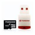 Transcend 16 GB microSDHC class 4 + P3 Card Reader