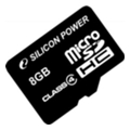 Silicon Power 8 GB microSDHC Class 4 SP008GBSTH004V10