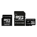 Silicon Power 4 GB microSDHC Class 2 + 2 adapters