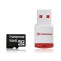 Transcend 4 GB microSDHC class 10 + P3 Card Reader