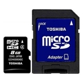 Toshiba 8 GB microSDHC class 4 + SD adapter