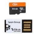 TEAM 64 GB microSDXC Class 10 UHS-I + Reader TUSDX64GUHS29