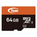 TEAM 64 GB microSDXC UHS-I + SD Adapter TUSDX64GUHS03