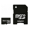 Exceleram 64 GB microSDXC class 10 + SD Adapter MSD6410A