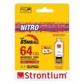Strontium 64 GB microSDXC Class 10 UHS-I + OTG-USB Card Reader SRN64GTFU1T