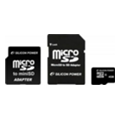Silicon Power 4 GB microSDHC Class 4 + 2 adapters