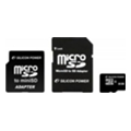 Silicon Power 8 GB microSDHC Class 10 + 2 adapters