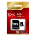 Silicon Power 4 GB microSDHC Class 10 + SD adapter