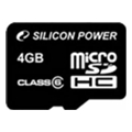 Silicon Power 4 GB microSDHC Class 6