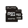 Qumo 8 GB microSDHC + SD adapter