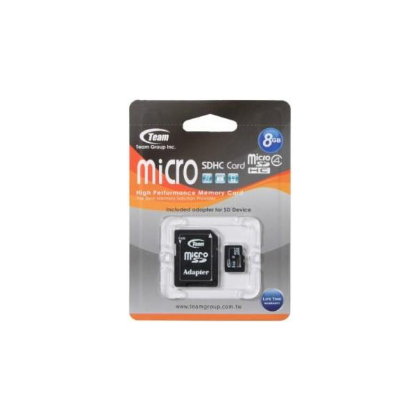 TEAM 8 GB microSDHC Class 4 + SD Adapter